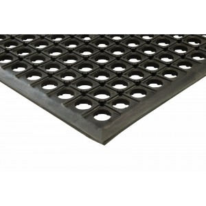 "Erie Tools 3x5 Black Rubber Drainage Floor Mat 36"" x 60"" Anti-Fatigue Anti-slip"