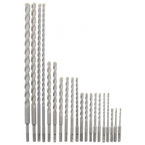 Erie Tools 20 Piece SDS Rotary Hammer Concrete Masonry Carbide Tipped Bit Set