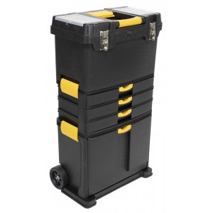 Erie Tools® Portable Toolbox with Foldable Handle & (3) Detachable Compartments