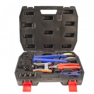 IWISS FSPV-3 Crimper Kit for MC3 MC4 Tyco Solar Connectors and Systems