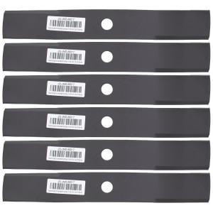 "6 Mower Blades John Deere® M136194 F620 F680 F687 Z710A Z810A Z820A Z910A 48"""
