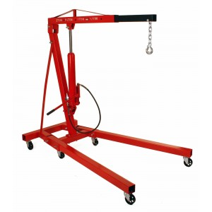Dragway Tools 2 Ton Folding Air and Hydraulic Engine Hoist