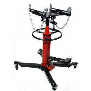 Dragway Tools 1000 LB 2 Stage Hydraulic Transmission Jack Hoist with Foot Pump