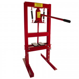 Dragway Tools 6-Ton Hydraulic Shop Press Benchtop with Plates H Frame