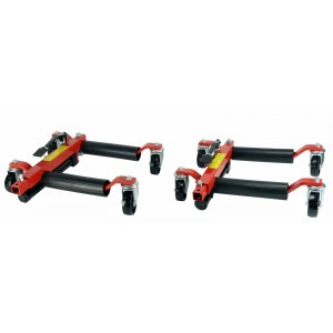 (2) Dragway Tools 12in. Hydraulic Wheel Dolly Vehicle Positioning Jacks