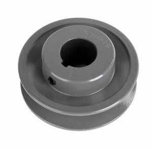 "Leeson Electric 2.8 X 7/8"" Single Groove Fixed Bore Pulley made of Cast Iron Construction BK28X7/8"
