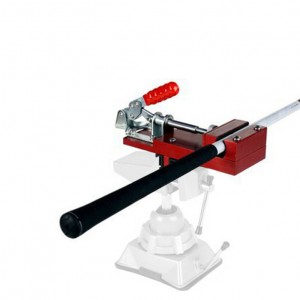 LogCorp Shaft Clamp with Quick Release for Re-Gripping Golf Clubs