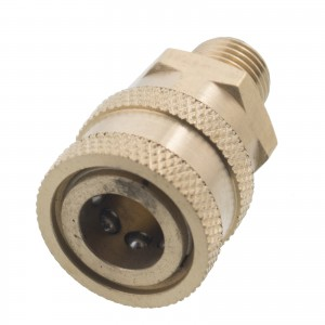 Erie Tools 1/4in. Brass Socket Quick Connect Coupler NPT-M Male 4000 PSI
