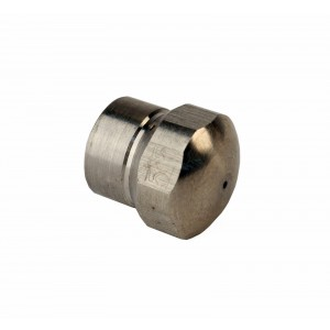 """Erie Tools Button Nose 1/8"""" Sewer Jetter Drain Cleaning Nozzle 5.5 Orifice Size"""