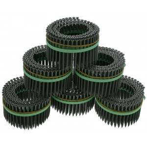 "MURO® Green Epoxy #8 x 3"" Square Flathead Wood Deck Screws for Speed Driver"