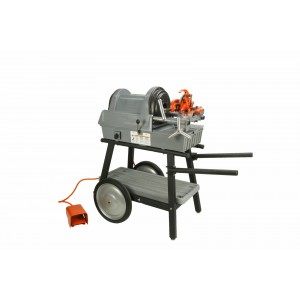 RIDGID® (Reconditioned) 1822-I Auto Chuck Pipe Threading Machine and 150A Cart