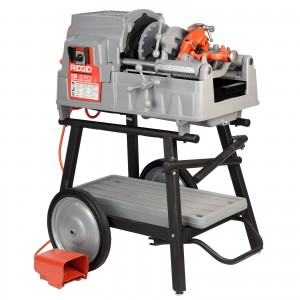 Reconditioned RIDGID® 535 V3 Pipe Threading Machine Manual Chuck Cart & 811A Die Head
