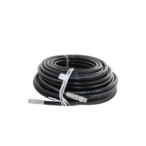 "Schieffer 4000 PSI 3/8"" x 150' Thermoplastic Sewer Jetter Hose 3/8"" Solid Swivel"