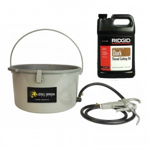 Steel Dragon Tools® 418 Oiler & 1 Gallon RIDGID® Dark Threading Oil