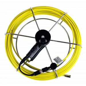 Pipe Inspection Camera Fiber Glass Push Rod & Reel 100 FT for 1/2in Camera Head