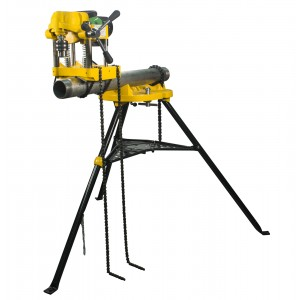 Steel Dragon Tools JK150 Pipe Hole Cutter With 460 Portable Tripod Stand