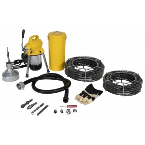 Steel Dragon Tools® K50 Sectional Drain Cleaning Machine and 130ft. of C8 Cable
