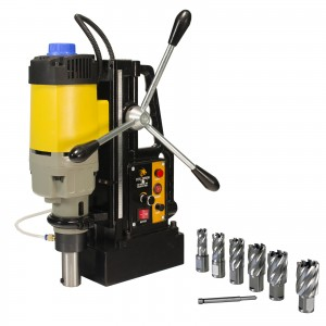 """Steel Dragon Tools®  MD50 Magnetic Drill with 7pc 1"""" HSS Annular Cutter Kit"""