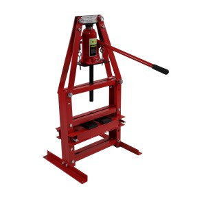 Dragway Tools 12 Ton A-Frame Hydraulic Shop Press with Press Plates